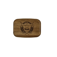 Padauk Wooden Box with the Battle Born Logo on Top